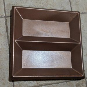 Bronze Two Sections Serving Platter